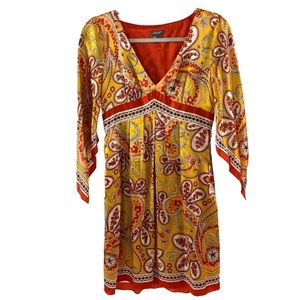 Muse silk boho dress size 4